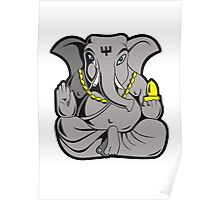 ganesha in colour Poster