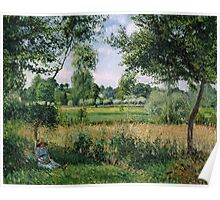 Camille Pissarro - Morning Sunlight Effect, Eragny 1899  French Impressionism Landscape Poster