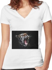 Dangerous Tiger Women's Fitted V-Neck T-Shirt
