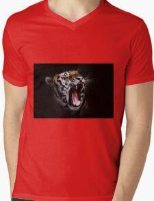 Dangerous Tiger Mens V-Neck T-Shirt