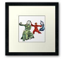 3 Female Martial Artists Framed Print