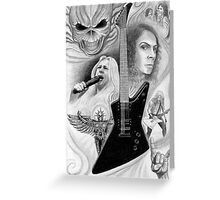 Tribute to Metal Greeting Card