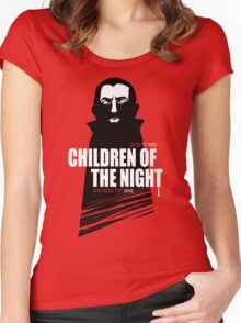Children of the Night Walk Home Alone... At Night. Women's Fitted Scoop T-Shirt