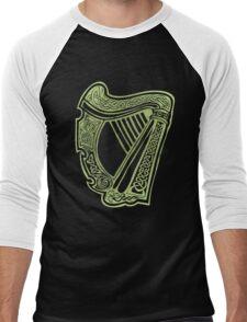 Celtic Harp Men's Baseball ¾ T-Shirt