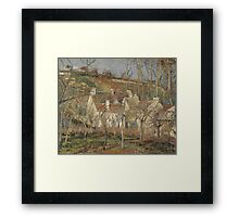 Camille Pissarro - Red roofs, corner of a village, winter 1877 French Impressionism Landscape Framed Print