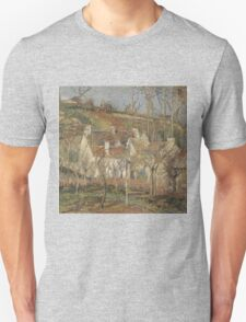 Camille Pissarro - Red roofs, corner of a village, winter 1877 French Impressionism Landscape Unisex T-Shirt