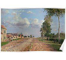 Camille Pissarro - Route de Versailles, Rocquencourt 1871 French Impressionism Landscape Poster