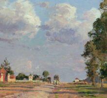 Camille Pissarro - Route de Versailles, Rocquencourt 1871 French Impressionism Landscape Sticker
