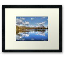 Lake Reflections HDR Framed Print