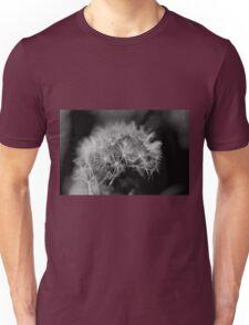 Macro Dandelion Black and White  Unisex T-Shirt
