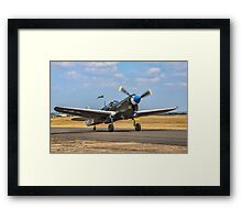 "Curtiss P-40N Warhawk 42-105915/12 F-AZKU ""Little Jeanne""  Framed Print"