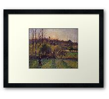Camille Pissarro - Soleil levant a Eragny 1894 French Impressionism Landscape Framed Print