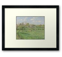 Camille Pissarro - Spring, Morning, Cloudy, Eragny 1900 French Impressionism Landscape Framed Print