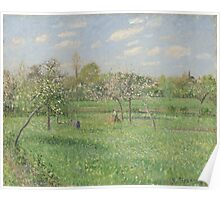 Camille Pissarro - Spring, Morning, Cloudy, Eragny 1900 French Impressionism Landscape Poster