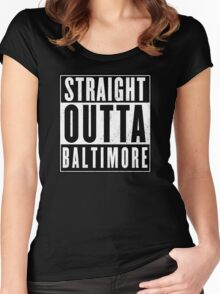 The wire - Baltimore Women's Fitted Scoop T-Shirt