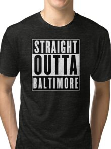 The wire - Baltimore Tri-blend T-Shirt