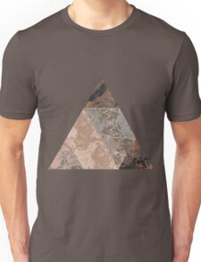Polygonal abstract marble texture background, natural stone template Unisex T-Shirt