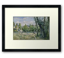 Camille Pissarro - Sunlight on the Road, Pontoise 1874 French Impressionism Landscape Framed Print