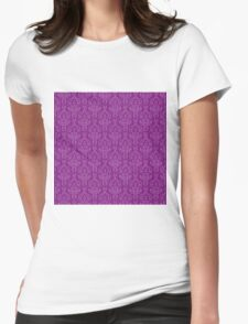 Purple Artwork Womens Fitted T-Shirt