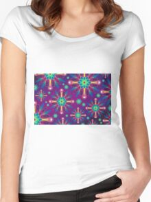 Colorful Artwork Women's Fitted Scoop T-Shirt