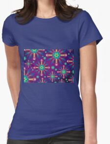 Colorful Artwork Womens Fitted T-Shirt
