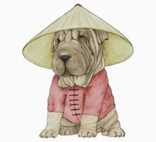 Shar Pei on The Great Wall One Piece - Short Sleeve
