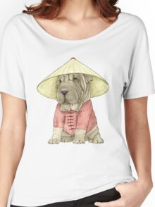 Shar Pei on The Great Wall Women's Relaxed Fit T-Shirt