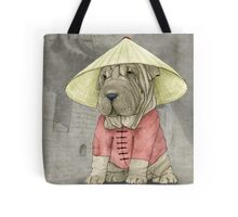 Shar Pei on The Great Wall Tote Bag