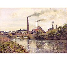 Camille Pissarro - The Factory at Pontoise 1873 Landscape French Impressionism Landscape Photographic Print