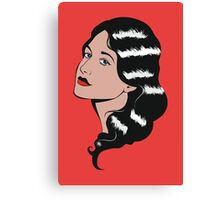 Girl in Pop Art style Canvas Print