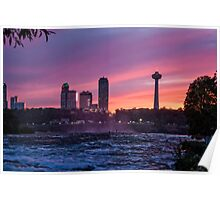 Sunset at the Falls Poster