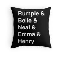 Rumple & Belle & Neal & Emma & Henry Throw Pillow