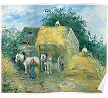 Camille Pissarro - The Hay Cart, Montfoucault 1879 American Landscape French Impressionism Landscape Poster