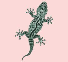 Ornate Lizard One Piece - Long Sleeve
