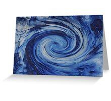Blue Galaxy Greeting Card