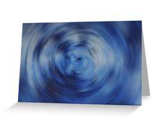 Blue Circular Blur Greeting Card