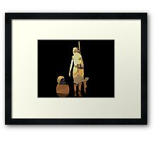 STAR WARS VII- BB8 and Rey Framed Print