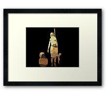 STAR WARS VII- BB8 and Rey Framed Print