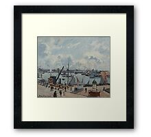 Camille Pissarro - The Outer Harbour of Le Havre, Morning, Sun, Tide 1902  French Impressionism Landscape Framed Print