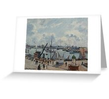 Camille Pissarro - The Outer Harbour of Le Havre, Morning, Sun, Tide 1902  French Impressionism Landscape Greeting Card
