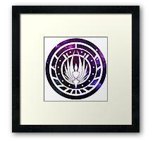 Battlestar Galactica Colonial Seal Purple Framed Print