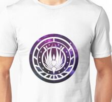 Battlestar Galactica Colonial Seal Purple Unisex T-Shirt