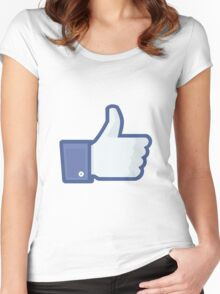 Facebook Like Logo Women's Fitted Scoop T-Shirt