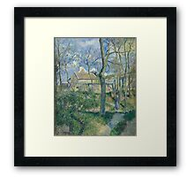 Camille Pissarro - The Path to Les Pouilleux, Pontoise 1881French Impressionism Landscape Framed Print