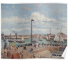 Camille Pissarro - The Pilots  Jetty at Le Havre 1903 French Impressionism Landscape Poster