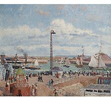 Camille Pissarro - The Pilots  Jetty at Le Havre 1903 French Impressionism Landscape Photographic Print