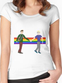 Yay Gay Women's Fitted Scoop T-Shirt