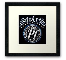 WWE AJ Styles Logo Framed Print