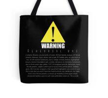 WARNING Rehearsal bag Tote Bag
