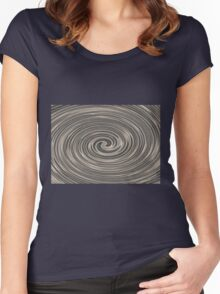 Black Twirl Women's Fitted Scoop T-Shirt